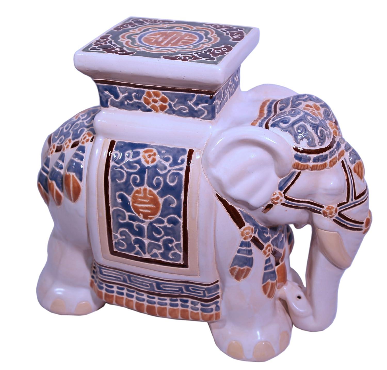 Enjoyable Amazon Com Oriental Furnishings 18 Ceramic Hand Painted Ncnpc Chair Design For Home Ncnpcorg