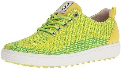 c1a289a005 ECCO Women's Casual Hybrid Knit Golf Shoe, Lime Punch/Toucan Neon/Sulphur,