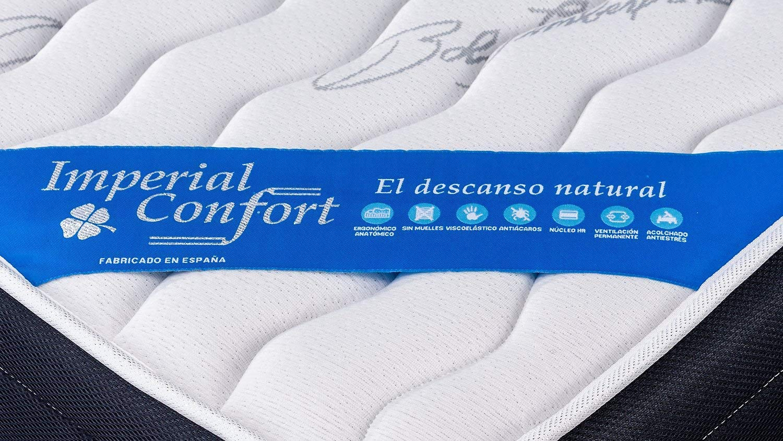 Imperial Confort Stockholm 21 Viscoelástico, Poliéster, Blanco y Gris, 90x180: Amazon.es: Hogar