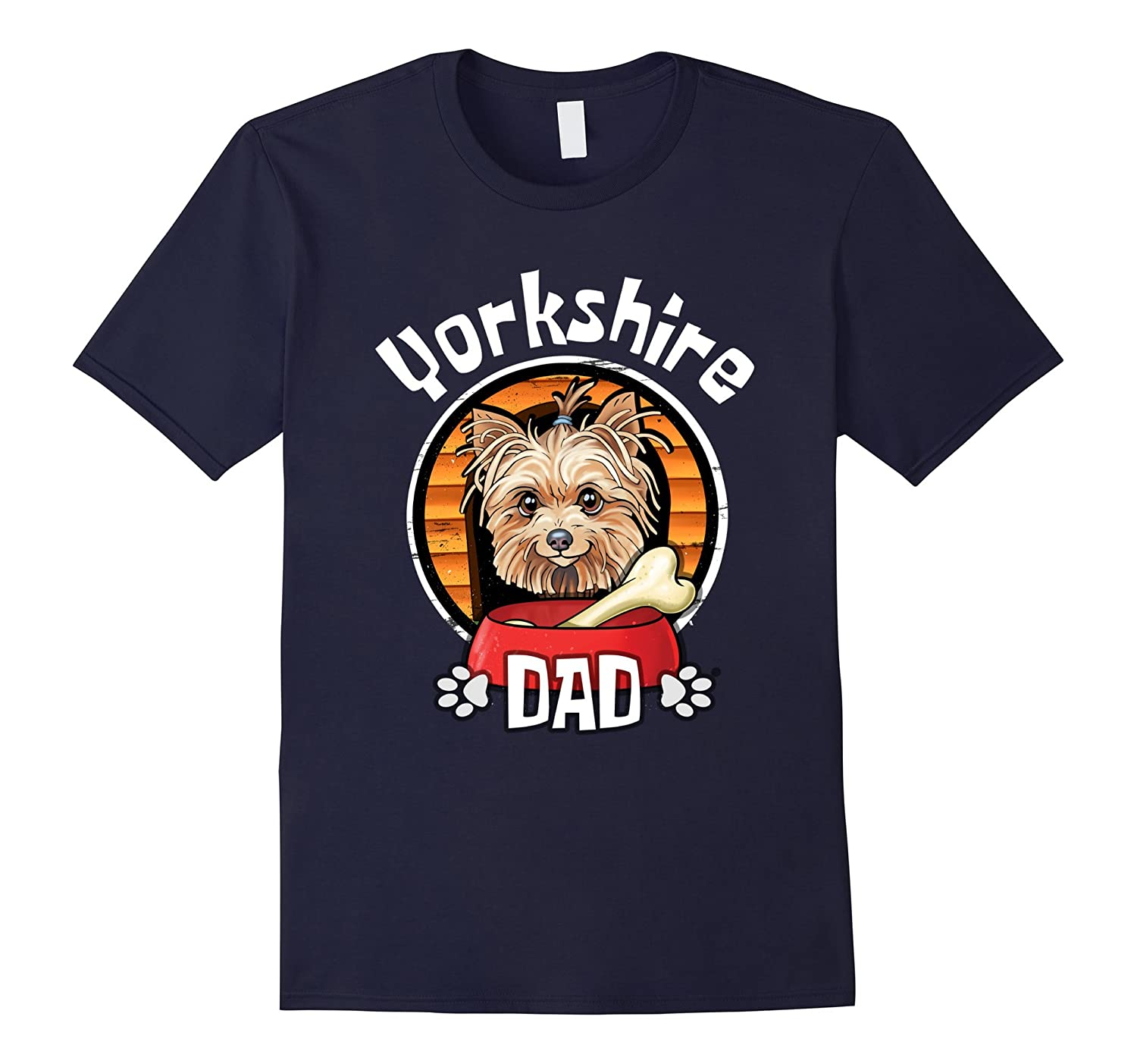 Yorkshire Terrier Dad Funny Dog Shirt-TH