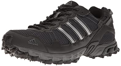 Adidas Men's Rockadia Trail M Running Shoe, Black/Black/Dark Grey Heather,