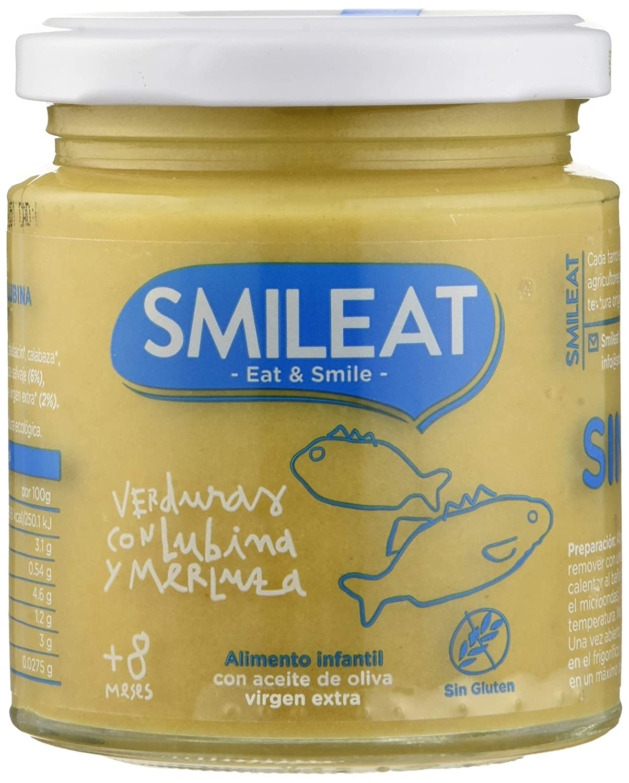 Smileat, Potito ecológico para bebé (Verduras, Lubina y merluza) - 12 de 230 gr. (Total 2760 gr.)