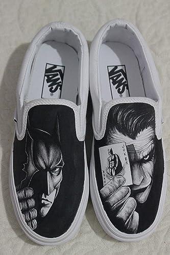 Amazon.com  Custom Vans Batman Women Men Vans Shoes Hand Painted Shoes   Handmade 1ff5f9554