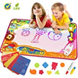 """Water Magic Drawing Mat Large Drawing Painting Doodle Mat 34.5"""" X 22.5"""" Toddlers Kids Educational Learning Toy Gift for Boys Girls Birthday Gift for Kids"""