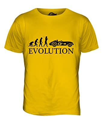 CandyMix Vintage Rennwagen Motorsport Evolution Des Menschen Herren T Shirt,  Größe X-Small,