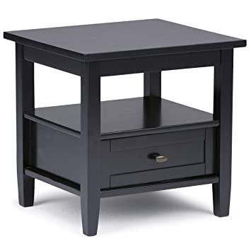 Good Simpli Home Warm Shaker End Table, Black