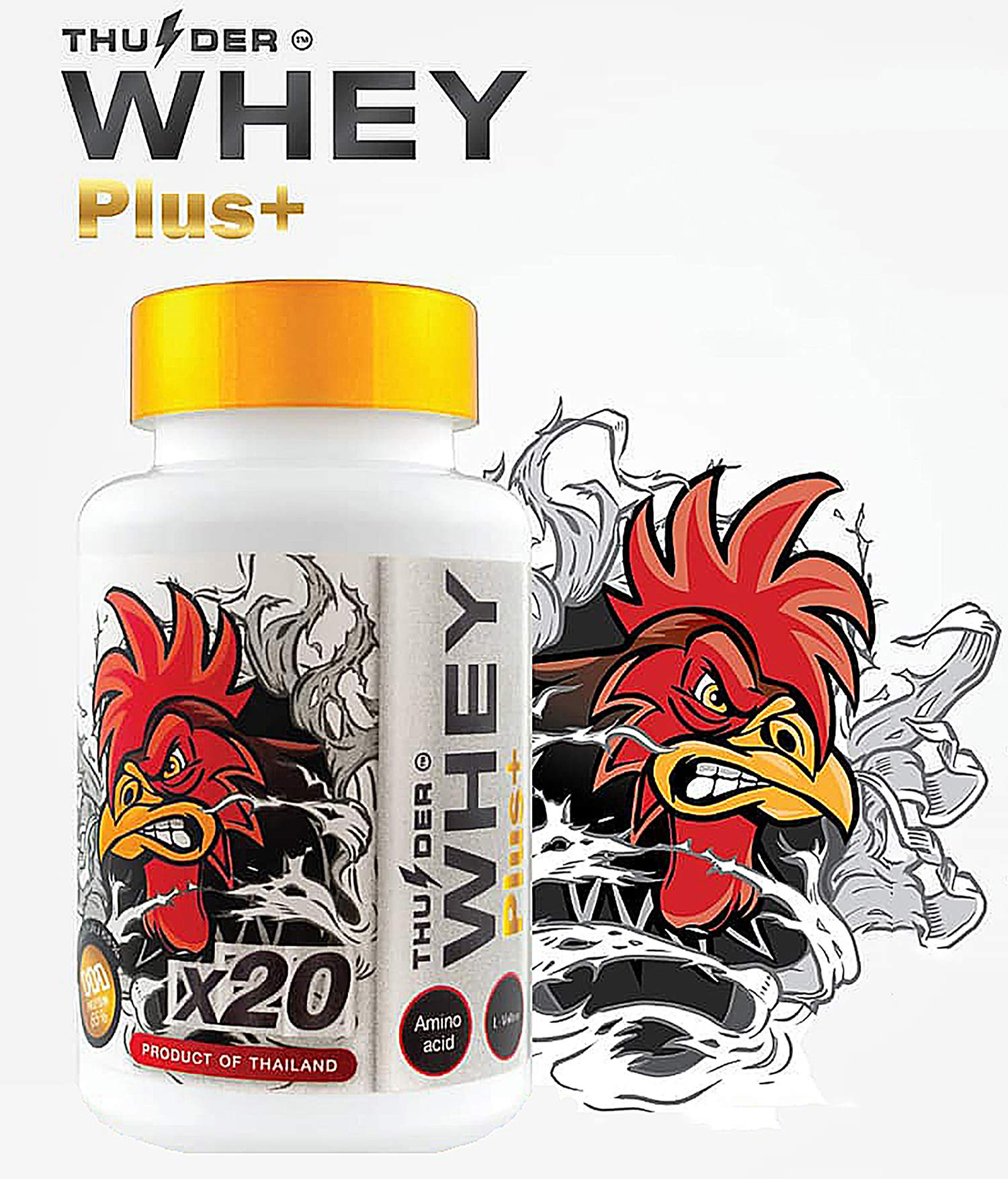 Faster X3 Formula Vitamins HEALTH SUPPLEMENT CAPSULES Rooster Booster Chicken Whey Protein Mixed Nourishing for Big Muscle & Mass Gain, Breeding, Healthy, Strong, Cock Fighting 60 Capsules Hen Feed by Thunder