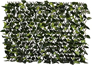 Garden Land Expandable Fence Privacy Screen for Balcony Patio Outdoor,Decorative Faux Ivy Fencing Panel,Artificial Hedges (Single Sided Leaves)…