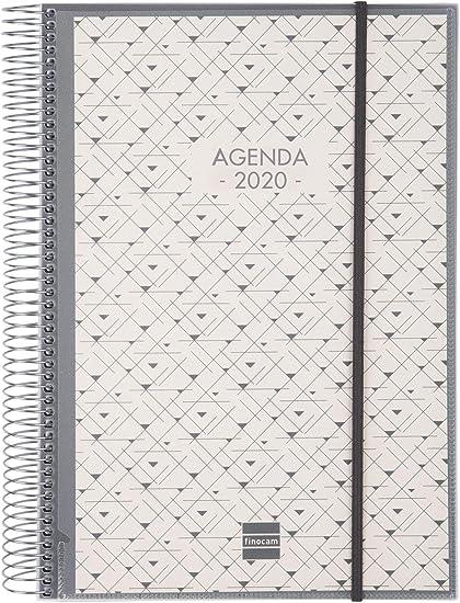 Finocam - Agenda 2020 1 día página Espiral Personalizable español ...