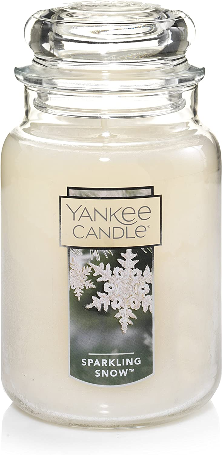 Yankee Candle Large Jar Candle, Sparkling Snow