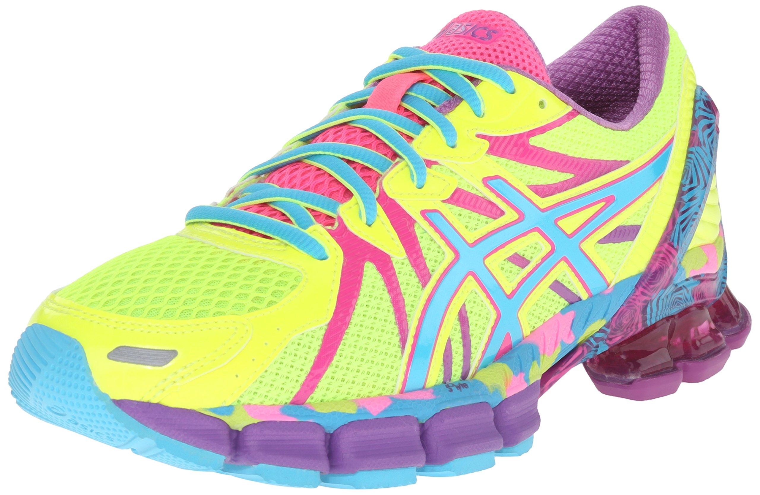 ASICS Women's Gel-Sendai 3 Running Shoe, Flash Yellow/Turquoise/Hot Pink, 6.5 M US
