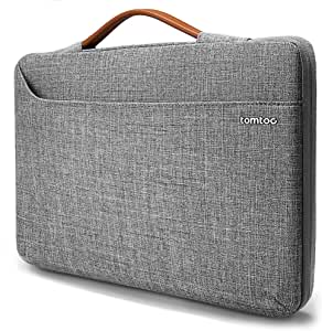 "tomtoc Laptop Sleeve for 16-inch MacBook Pro, Microsoft Surface Book 3/2 15, 360 Protective Bag for 15-inch Old MacBook Pro, Dell XPS 15, The New Razer Blade 15, ThinkPad X1 Extreme Gen 2 15"" Gray"