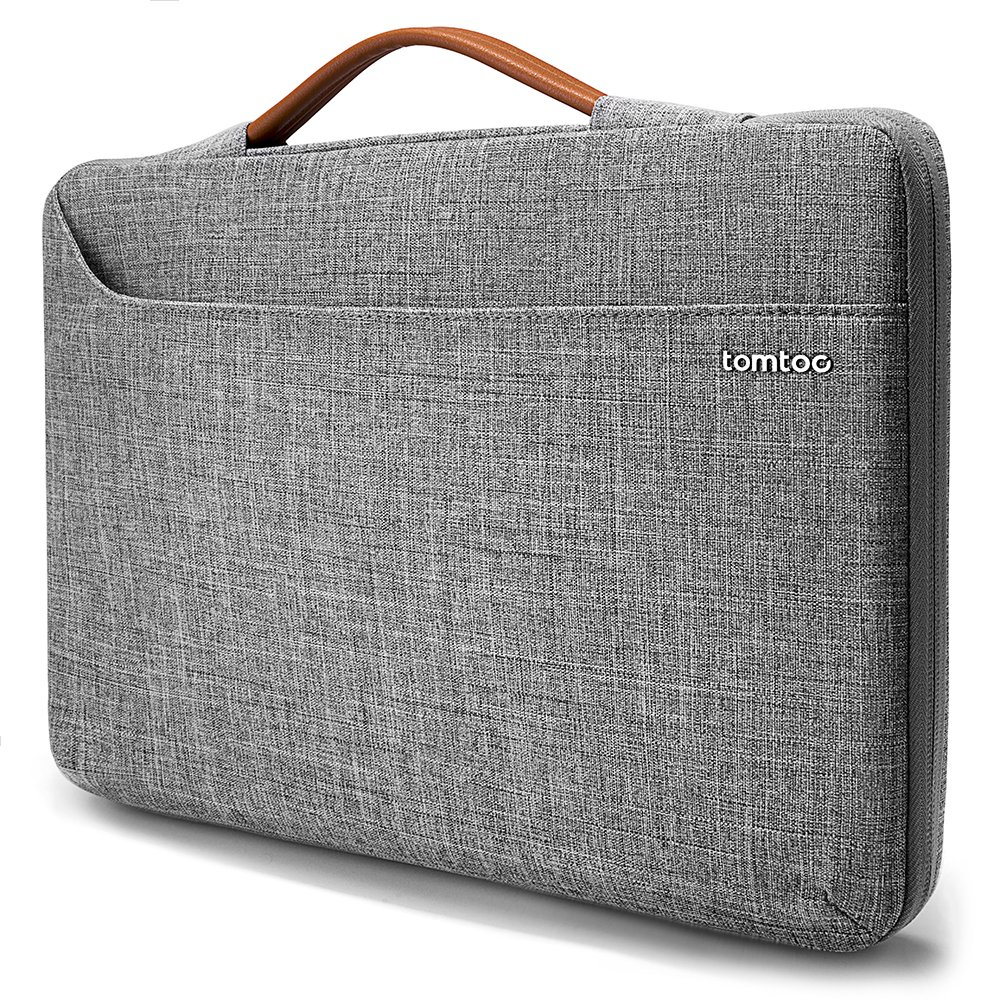tomtoc 360° Protective Laptop Handle Sleeve Fit for Microsoft 13.5'' Surface Book 1 & 2 | 13.5'' Surface Laptop 2017, 13 - 13.5 inch Notebook Tablet Zipper Briefcase Handbag with Accessory Bag
