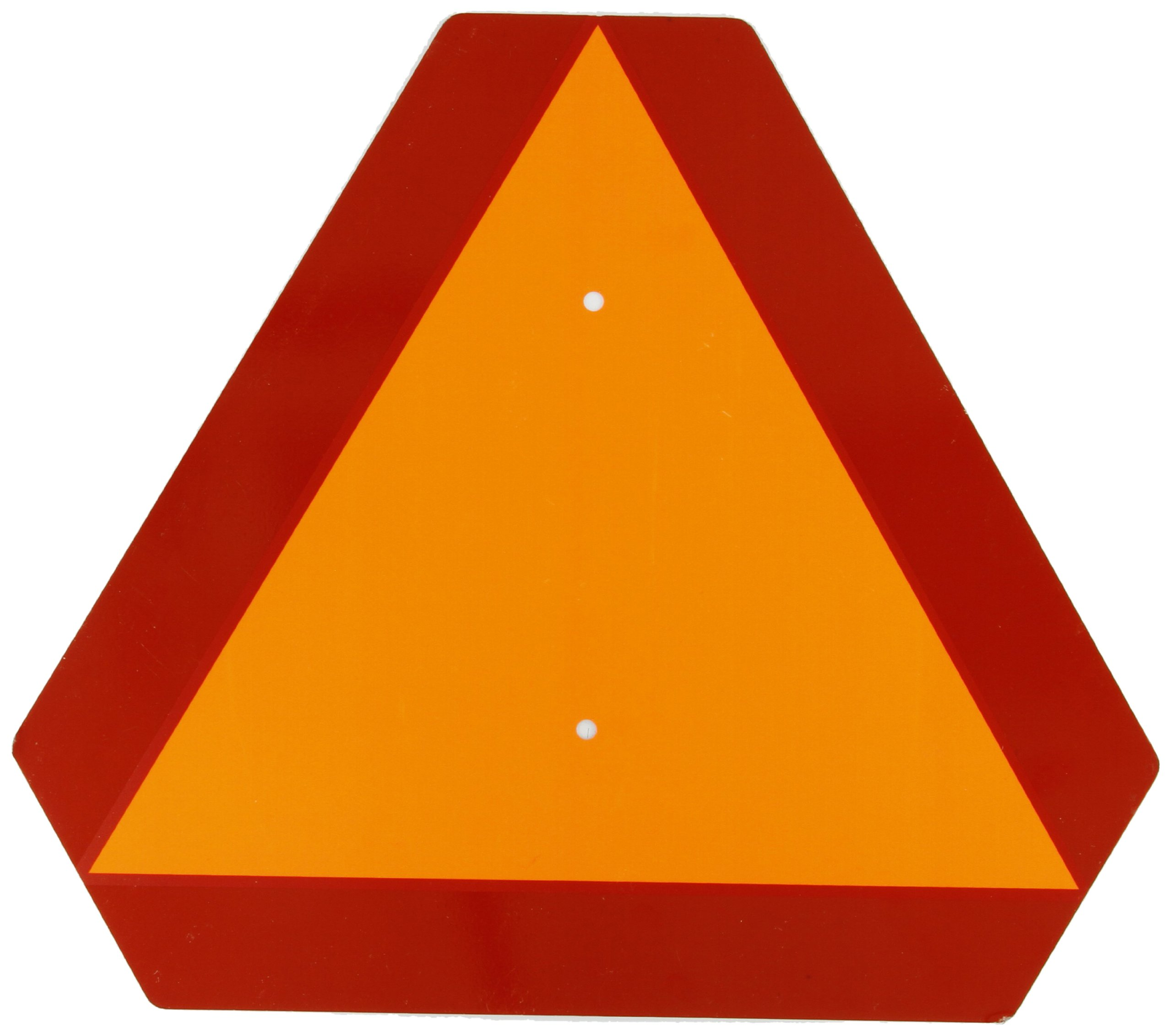 Brady Slow Moving Vehicle Sign, 14'' Height x 14'' Width, Steel, Reflective Orange and Red -  57894 by Brady