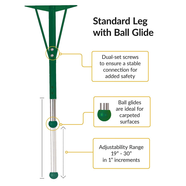 "ECR4Kids Mesa Everyday 24/"" x 48/"" Half Round School Activity Table Standard Legs"