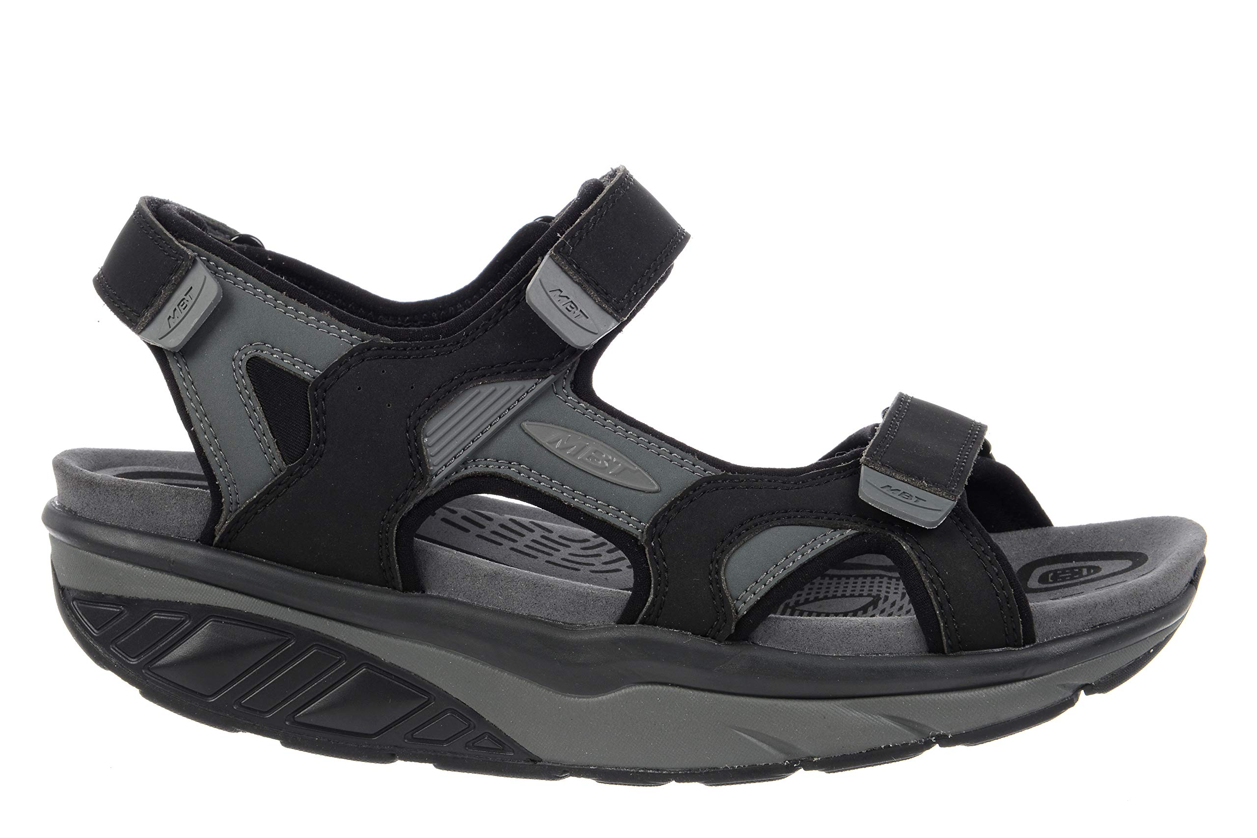 MBT USA Inc Men's Saka 6S Sport Black/Charcoal Gray Outdoor Sandals 700787-201L Size 11-11.5