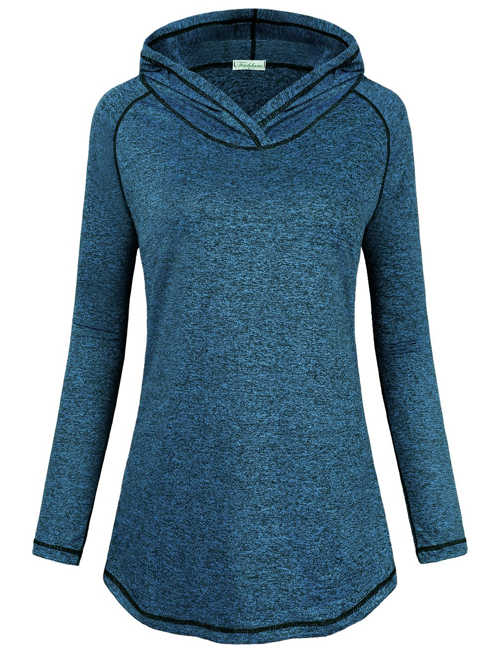Faddare Activewear Tops for Women, Office Ladies Gifts Shirts Running Athleisure Hoodys T-Shirt Fashion 2017 Prime Clothes for Going Out Petite Blouses Knitted Wear,Blue L