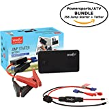 Weego JS6 Jump Starter POWERSPORTS BUNDLE includes Jump Starter JS6 1050 Peak 300 Cranking Amps Plus Weego Jump and Charge 2-in-1 Powersports Tether/Harness
