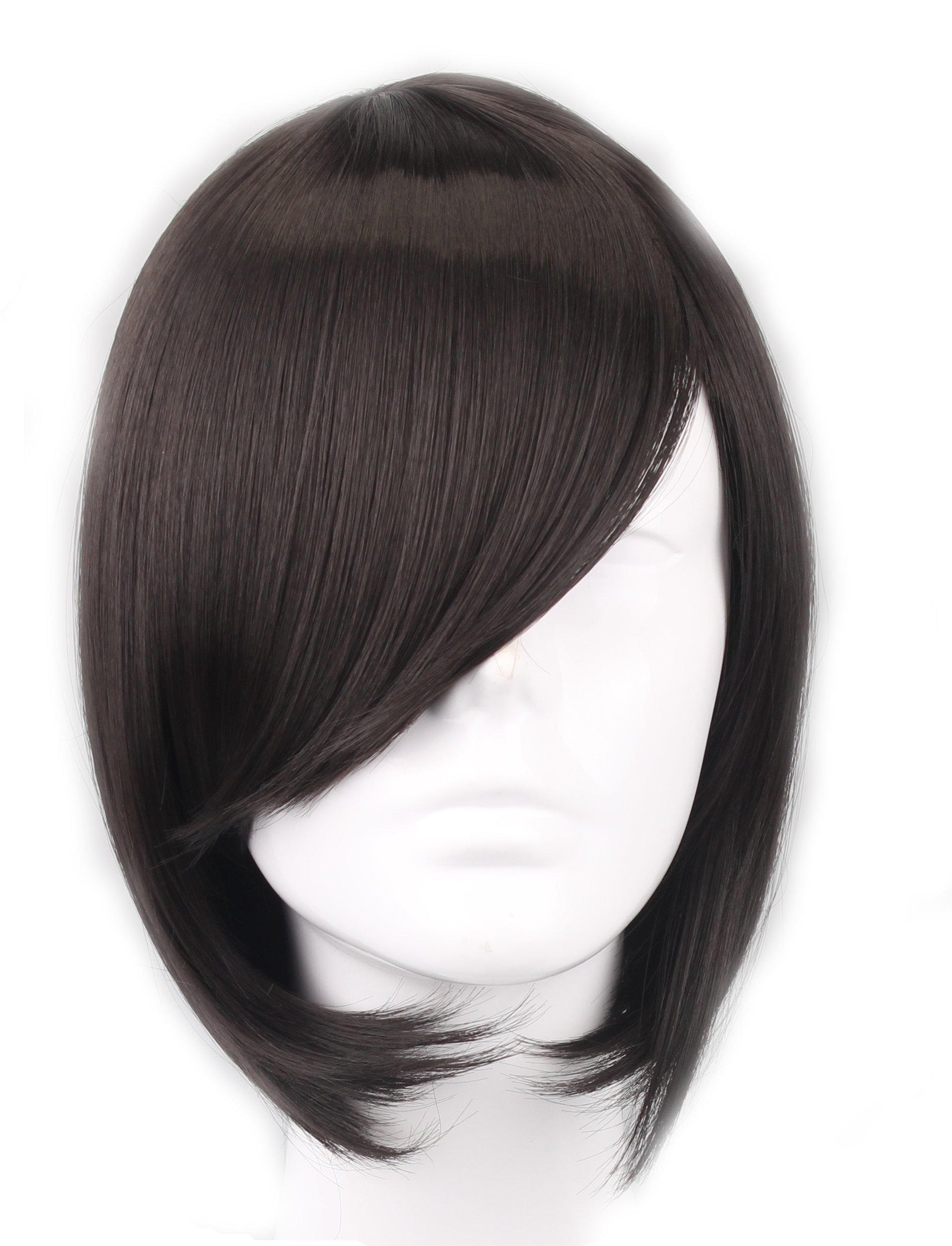 SIMUSTY SYNTHETIC Short Bob Natural Black Brown Head Women Wig for Mothers Day Daily Wear