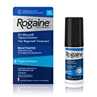 Men's Rogaine Extra Strength 5% Minoxidil Topical Solution for Hair Loss and Hair...