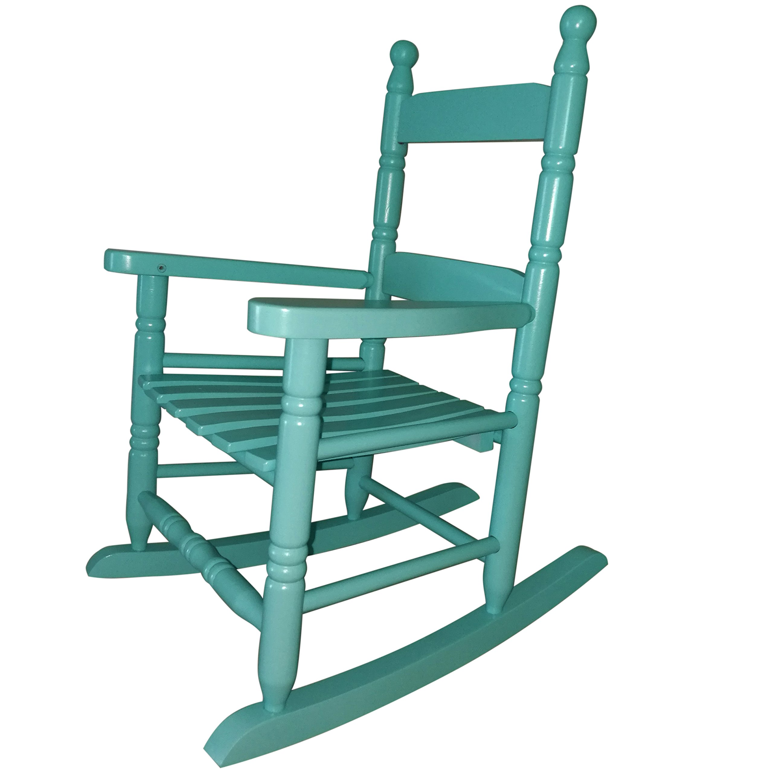 Rockingrocker - K10BU Child's Rocking Chair/porch Rocker - Indoor or Outdoor - Suitable For 1 to 4 Years Old (Light Blue)