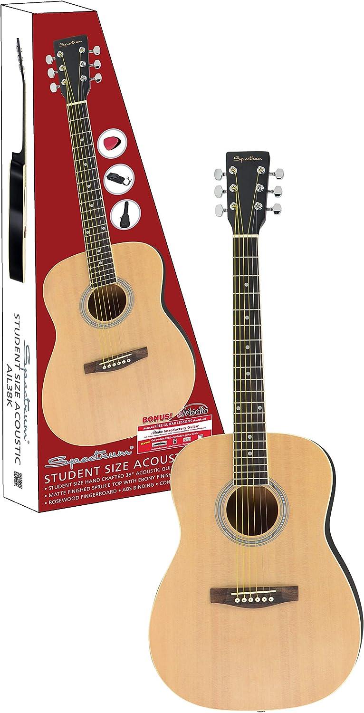 Espectro ail 38 cm Estudiante Tamaño K Hecho A Mano Pack de guitarra acústica con Gig Bag: Amazon.es: Instrumentos musicales