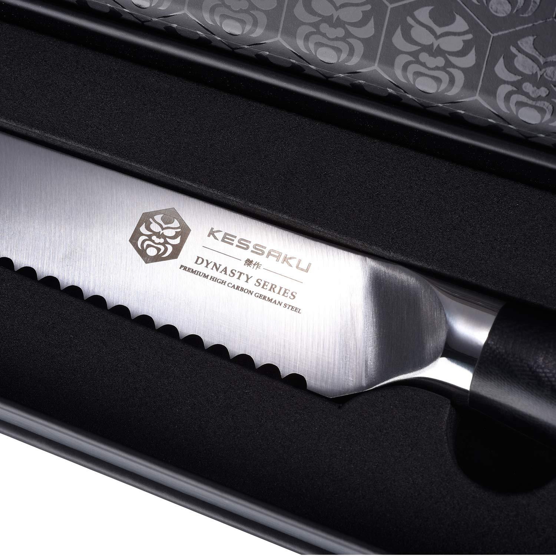 Kessaku Bread Knife - Dynasty Series - German HC Steel, G10 Full Tang Handle, 8-Inch by Kessaku (Image #6)