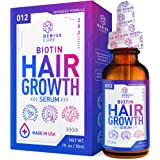 Hair Growth Serum, Hair Growth Treatment,Hair Serum, Hair Loss & Hair Thinning Treatment, Hair Growth Oil Biotin for…