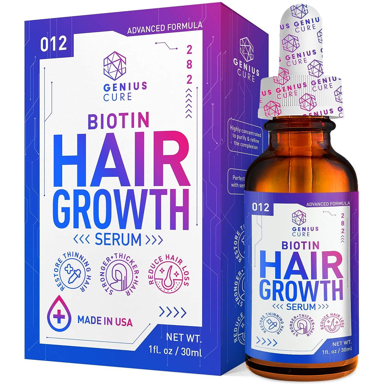 Hair Growth Serum, Hair Growth Treatment, Hair Serum, Hair Loss & Hair Thinning Treatment, Hair Growth Oil Biotin for Stronger, Thicker, Longer Hair 1oz : Beauty