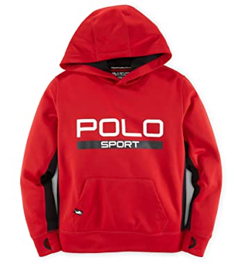Amazon.com: Ralph Lauren Polo Sport Boys Tech Fleece Pullover ...