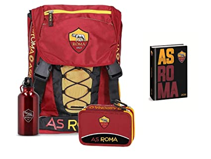 Mochila Escolar AS Roma Fútbol Extensible con Botella de ...