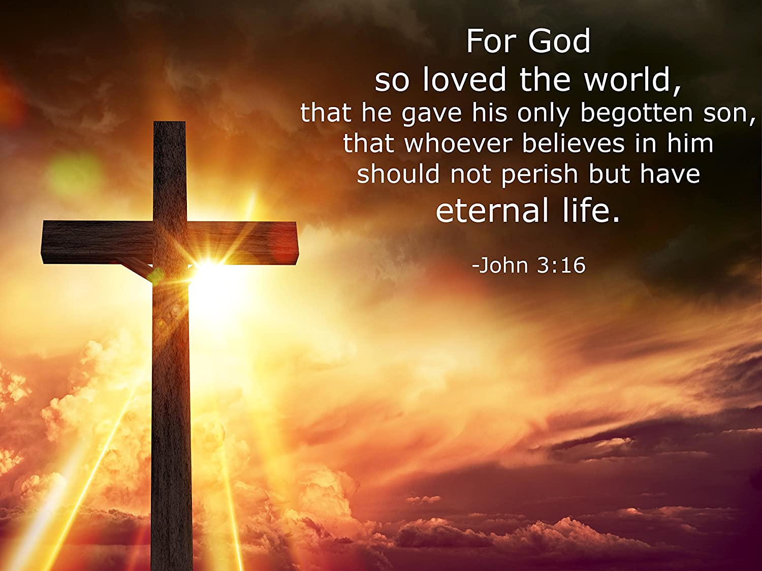 Amazon.com: John 3:16 Religious Poster - Inspirational Motivational ...