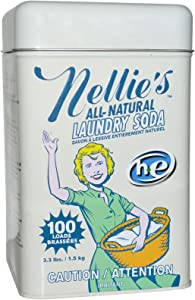 Nellie's All Natural Laundry Soda Leaves no residue 100 Loads 3.3 lbs 1.5 kg