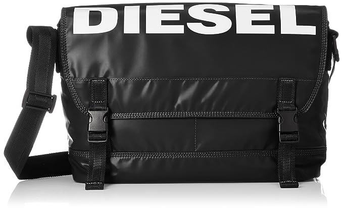 089bc02d40f5b5 Diesel Men's BOLDMESSAGE F-Bold Messenger-Cross bodybag, black One Size