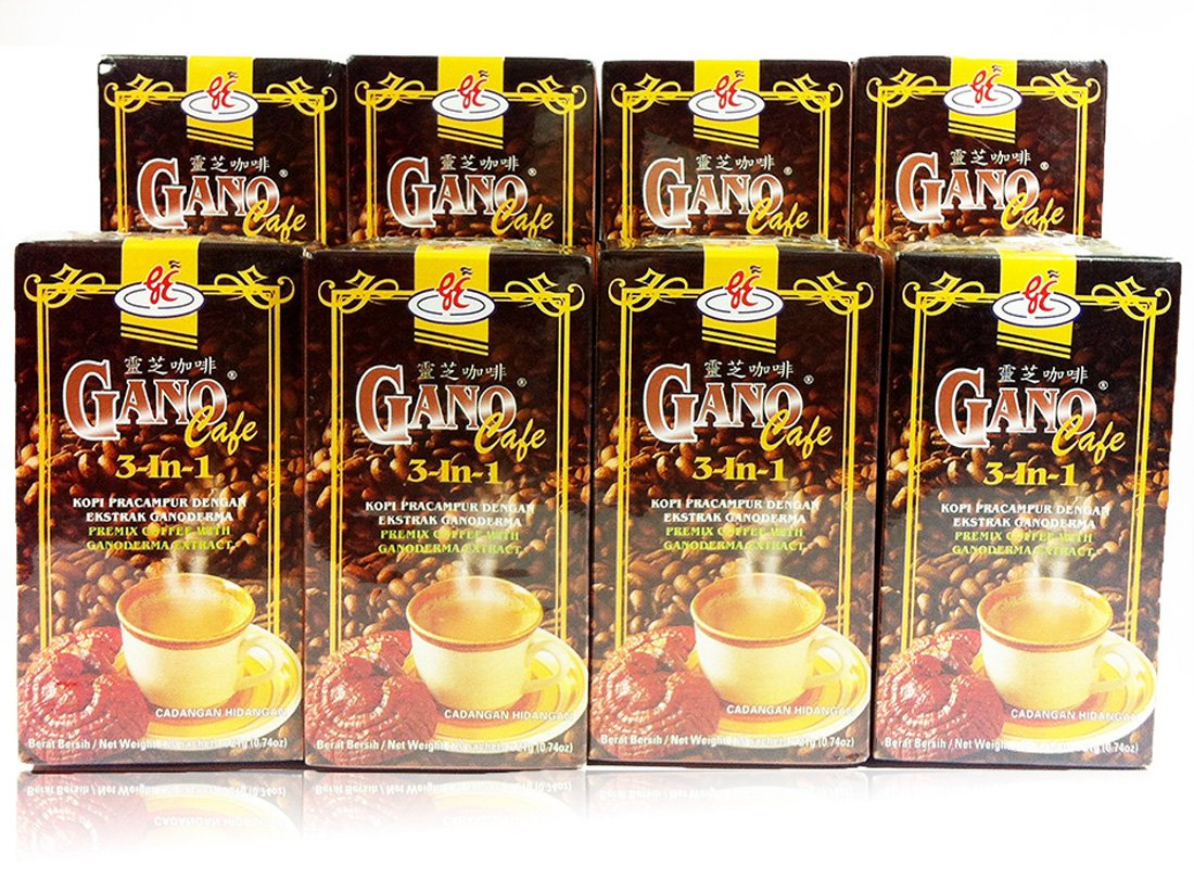 8 Boxes - Gano Cafe 3-in-1 By Gano Excel USA Inc. - 1 Box of 20 Sachets