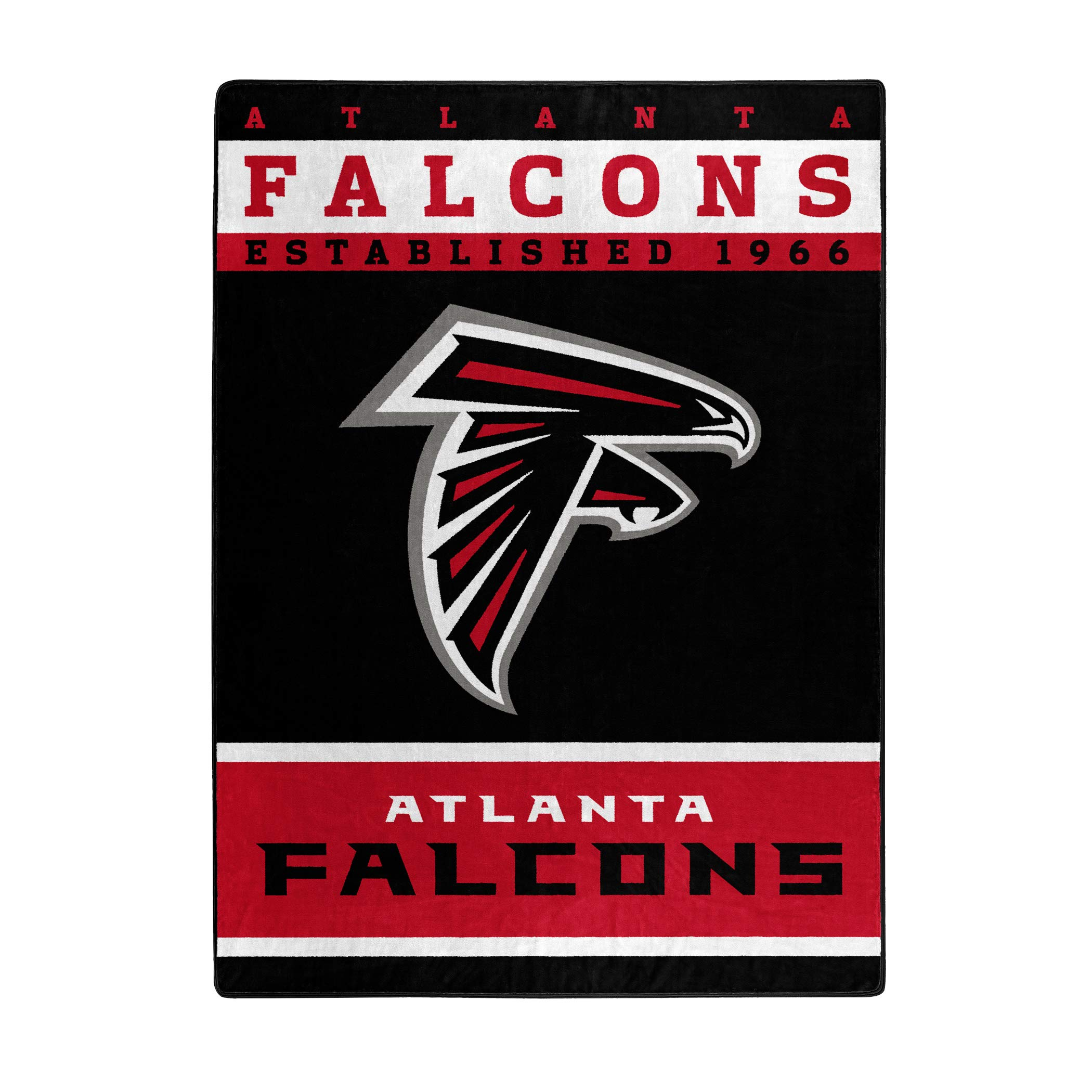 The Northwest Company Officially Licensed NFL Atlanta Falcons 12th Man Plush Raschel Throw Blanket, 60'' x 80''