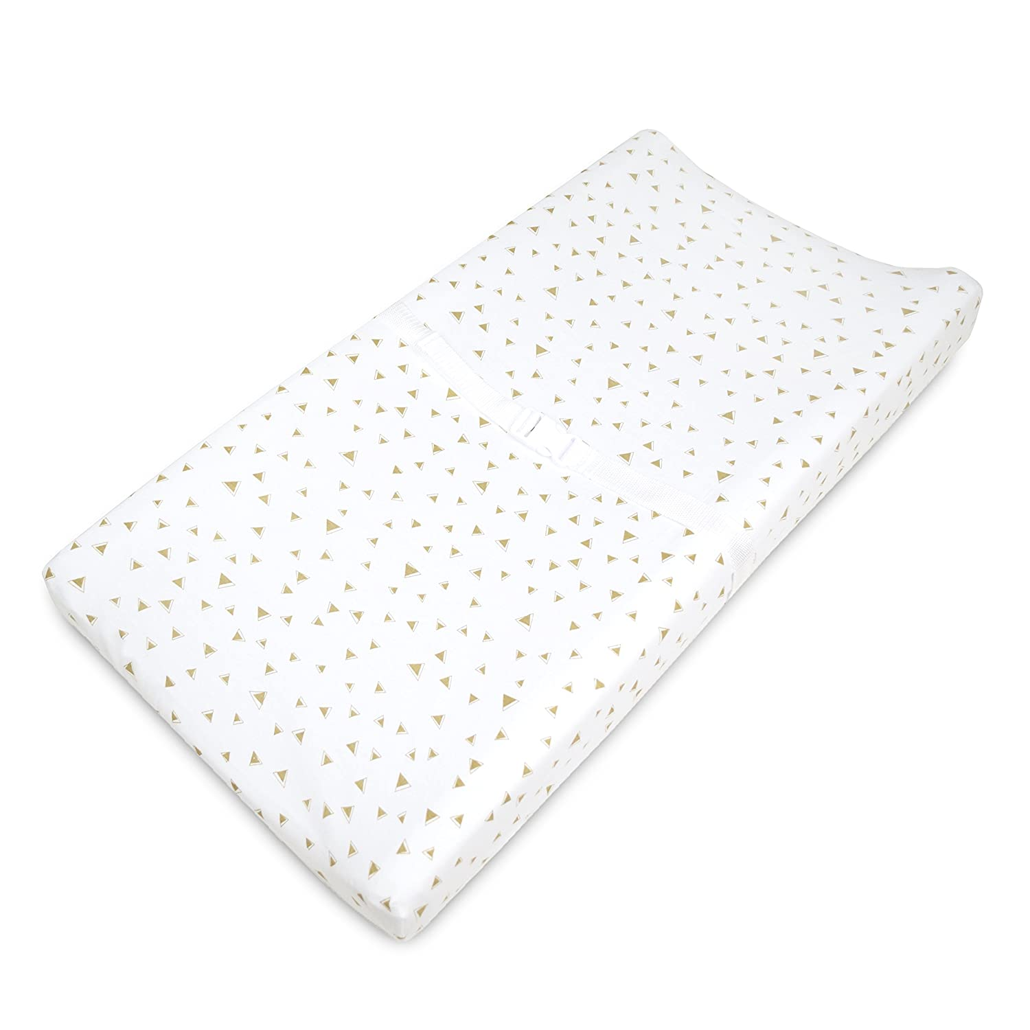 TL Care Printed 100/% Natural Cotton Jersey Knit Fitted Contoured Changing Table Pad Cover Sparkle Gold//Pink Arrows Soft Breathable for Girls