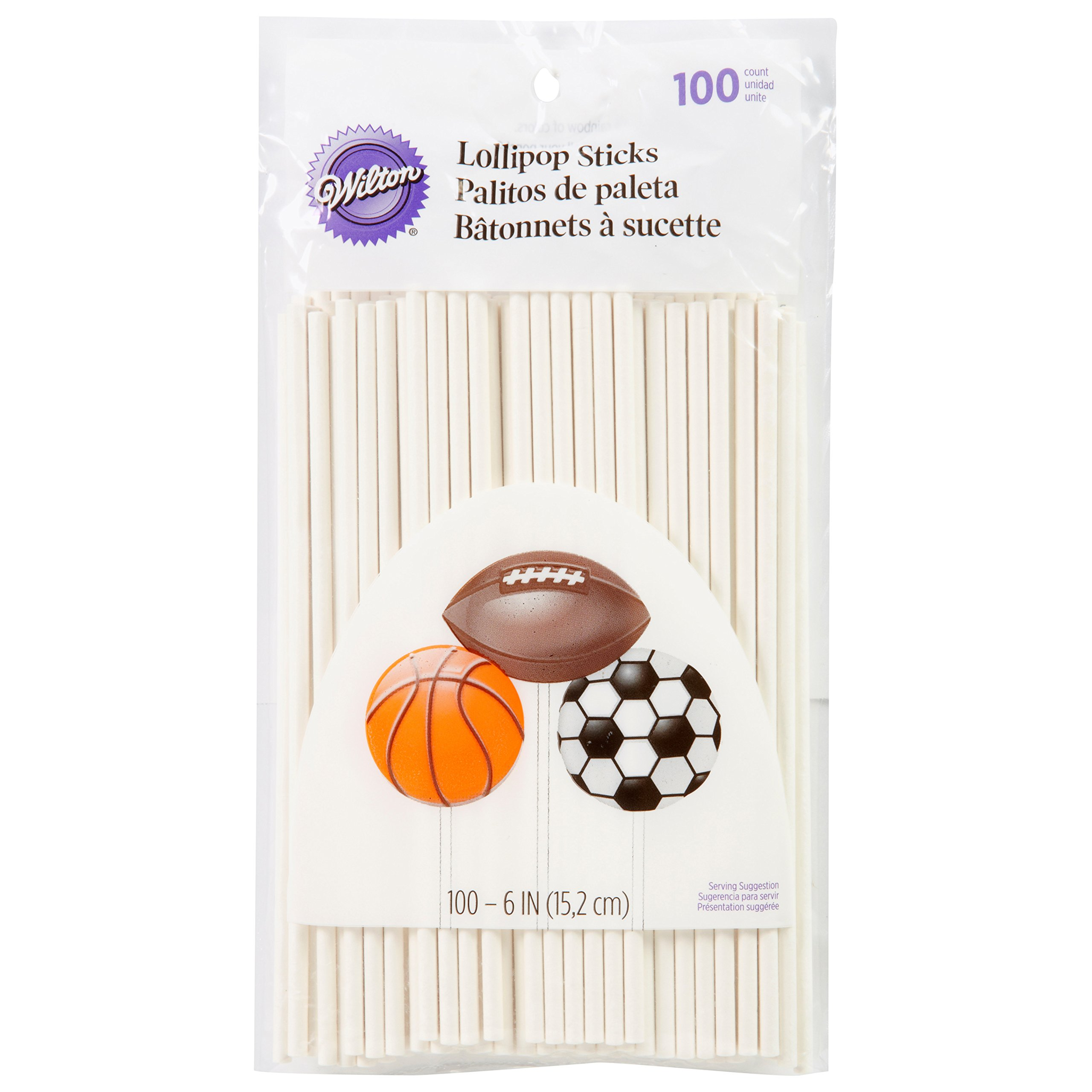Wilton White 6 Inch Lollipop Sticks