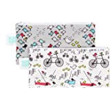 Bumkins Reusable Snack Bag Small 2 Pack, Bird Park & Urban Bird (N15)