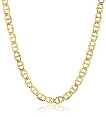 tiffany i and gold mariner yellow ss cuban co chain necklace link