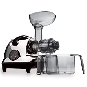 Kuvings BPA-Free NJE-3570U Masticating Slow Juicer, Chrome