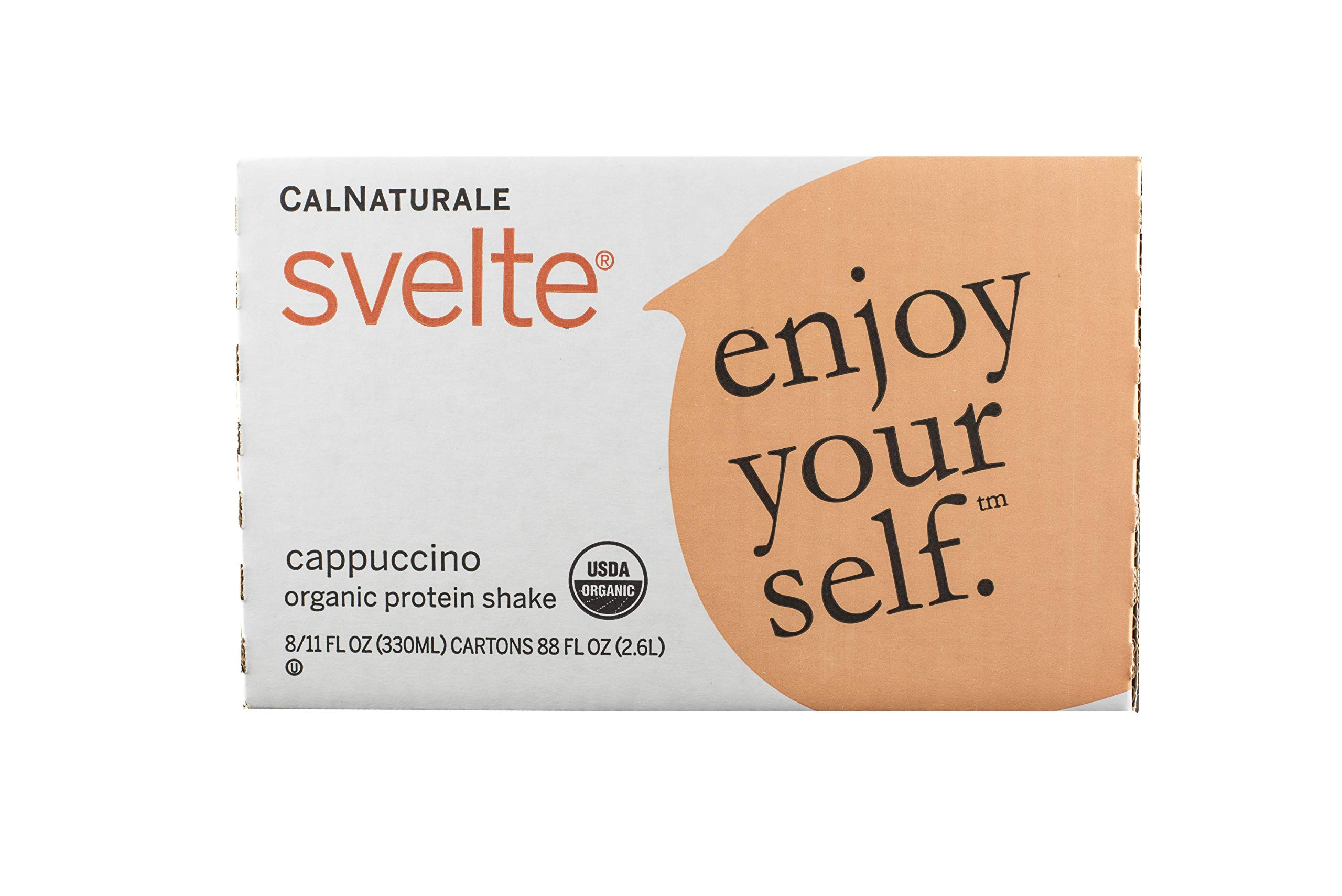 Svelte Organic Protein Shake, Cappuccino, 11 Ounce (Pack of 8)
