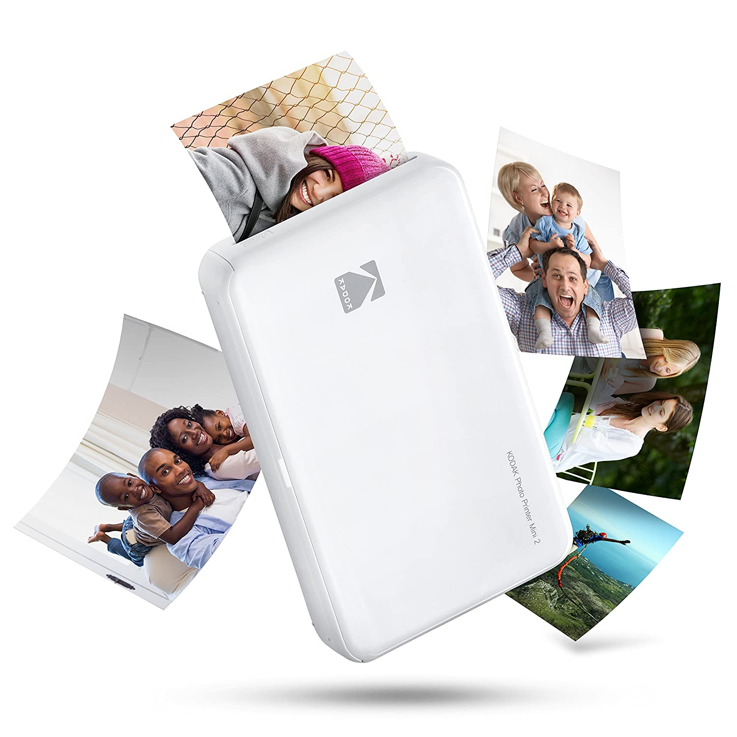 Kodak Mini 2 HD Wireless Mobile Instant Photo Printer with 4Pass Patented Printing Technology Blue Compatible with iOS and Android Devices
