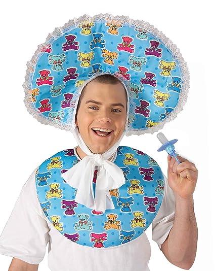 b8c4d8c5e2f Forum Novelties Men s Big Baby Boy Deluxe Costume Accessory Bib and Bonnet  Set