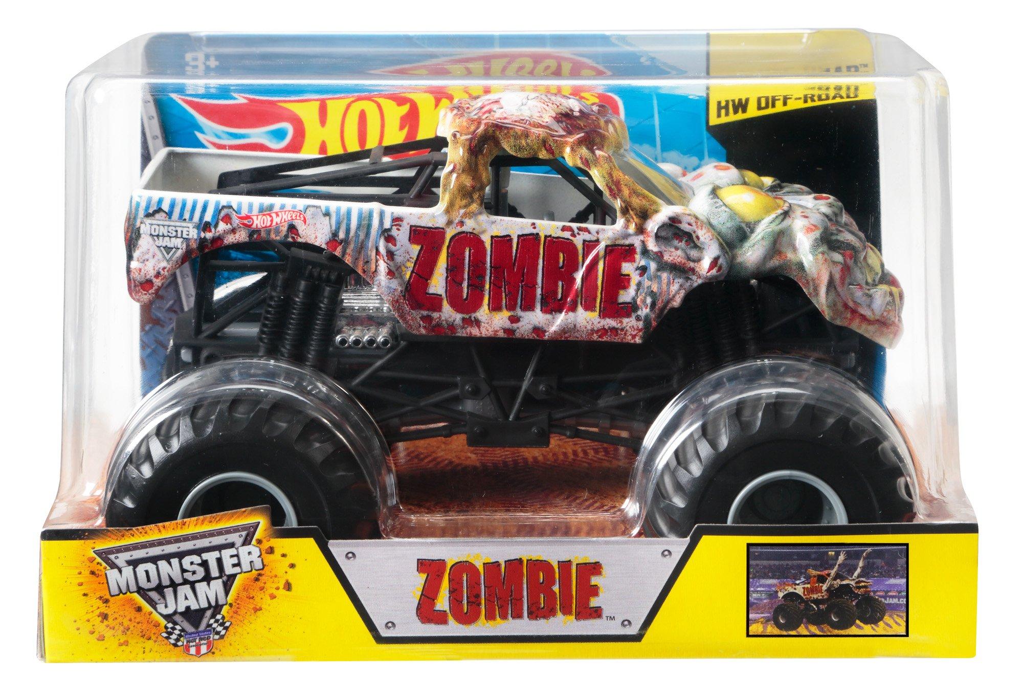 Hot Wheels Monster Jam Zombie Die Cast Vehicle 1 24 Scale Toys