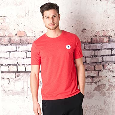 acb3743c0a03 Converse Mens Mens Core Chest Logo T-Shirt in Red - 2XL  Converse   Amazon.co.uk  Clothing