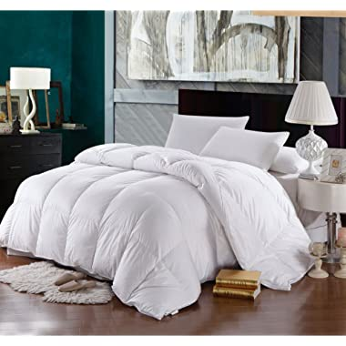 Royal Hotel Goose-Down Comforter, 500-Thread-Count, 100% Cotton Shell, 750FP - 57 Ounce, Oversized King