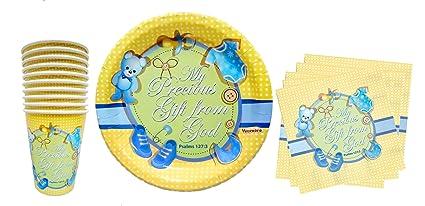 Amazon.com: Baby Boy First 1st Birthday, Shower, Christening ...