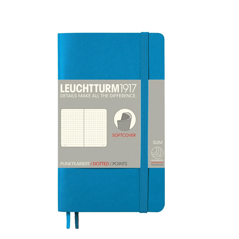 Leuchtturm1917 339601 - Cuaderno de notas de bolsillo (A6, 121 color páginas), tapa blanda, color 121 Army 52e44c