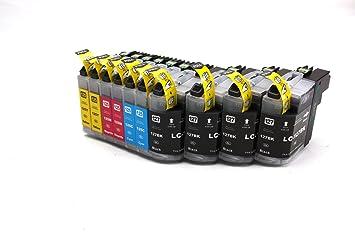 Multipack - Lote de cartuchos para impresoras Brother MFC-J4110, DW MFC-J4410, DW MFC-J4510, DW MFC-J4610, DW MFC-J4610 DW (10 unidades)